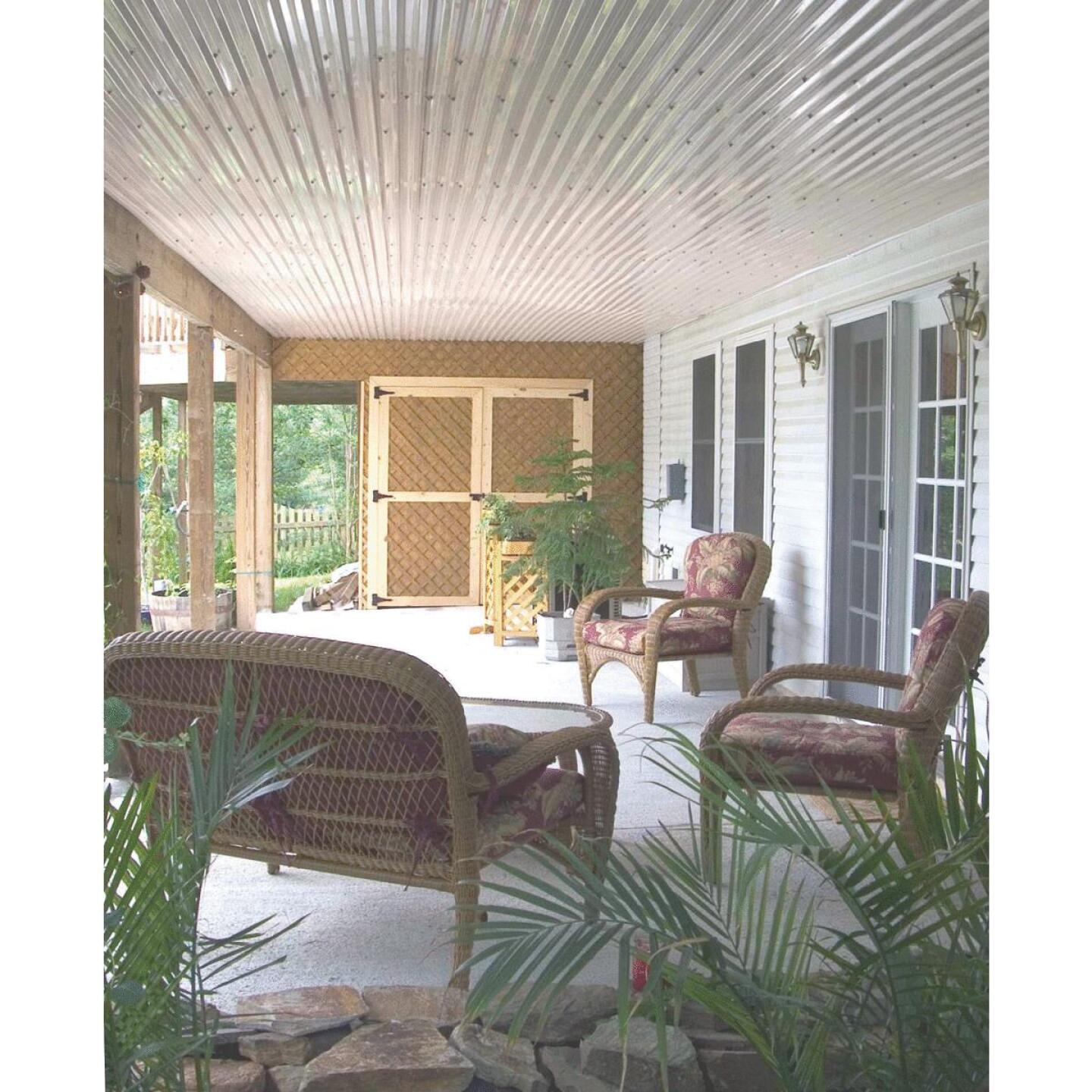 Tuftex UltraVinyl 26 In. x 10 Ft. Opaque White Square Wave Polycarb & Vinyl Corrugated Panels Image 2