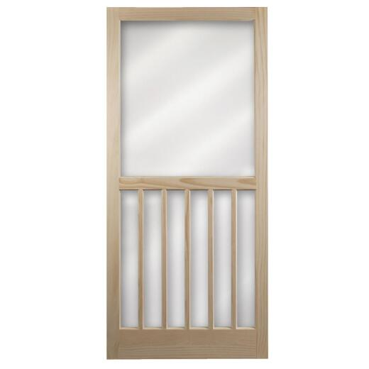 Snavely Kimberly Bay 32 In. W. x 80 In. H. x 1-1/8 In. Thick Stainable Natural 5-Bar Wood Screen Door