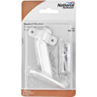 National White Zinc Die-Cast With Steel Strap Handrail Bracket Image 2