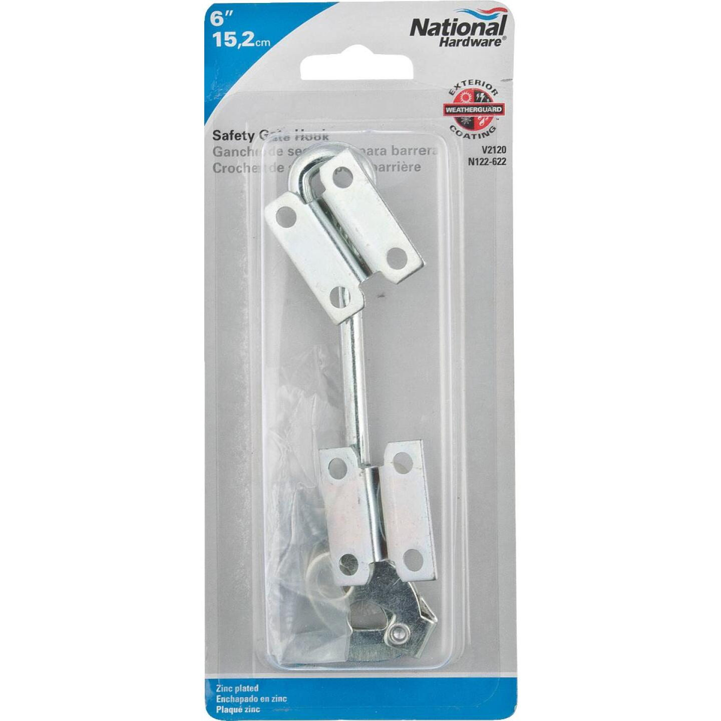 National 6 In. Steel Safety Gate Hook Image 2