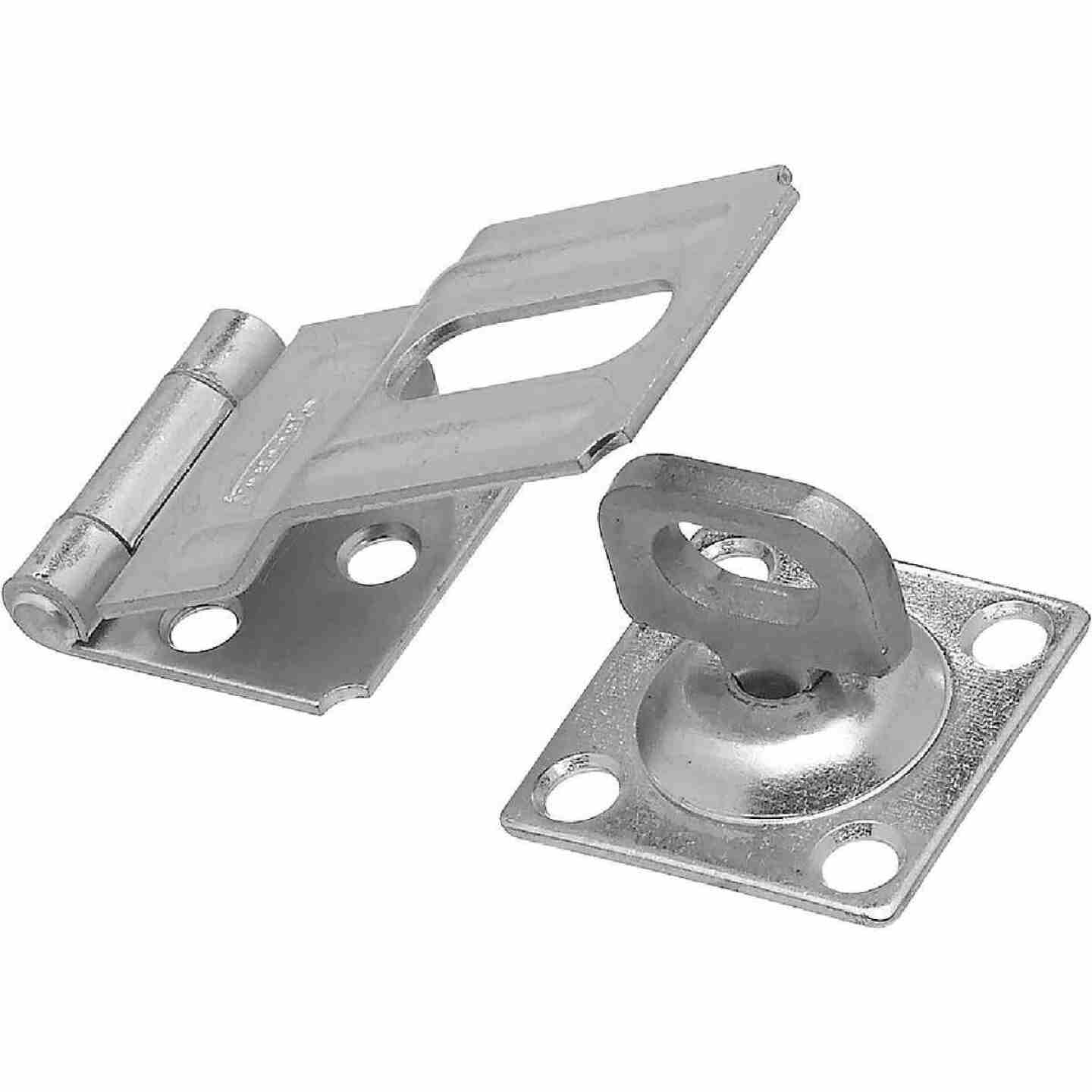 National 3-1/4 In. Zinc Swivel Safety Hasp Image 1
