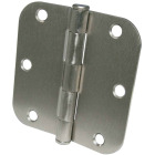 Ultra Hardware 3-1/2 In. x 5/8 In. Radius Satin Nickel Door Hinge (3-Pack) Image 1