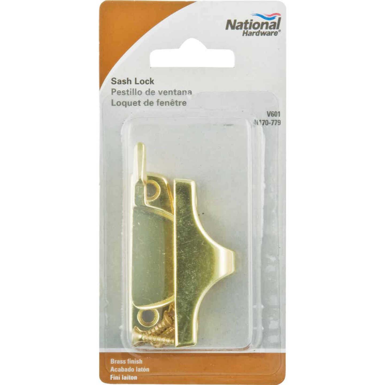 National Bright Brass Finished Die-Cast Zinc Crescent Sash Lock Image 2