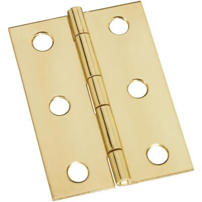 National 1-3/4 In. x 2-1/2 In. Brass Medium Decorative Hinge (2-Pack)