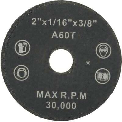 Weiler Vortec Type 1 2 In. x 1/16 In. x 3/8 In. Metal/Plastic Cut-Off Wheel