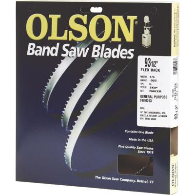 Olson 93-1/2 In. x 3/16 In. 10 TPI Regular Flex Back Band Saw Blade