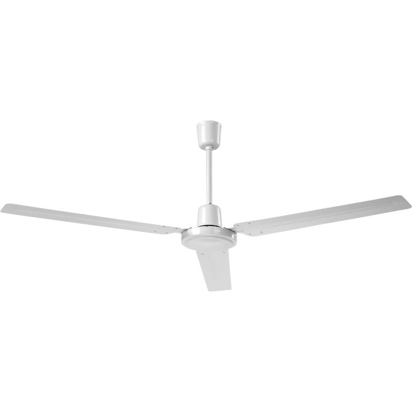 Home Impressions Industrial 56 In. White Ceiling Fan Image 1