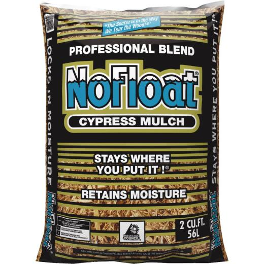 No Float 2 Cu. Ft. Rich Brown Cypress Mulch