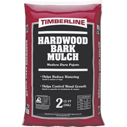 Timberline 2 Cu. Ft. Natural Brown Shredded Hardwood Mulch