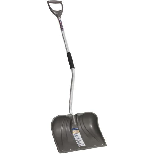 Rugg Back-Saver Lite-Wate 18 In. Poly Snow Shovel with 42.5 In. Aluminum Handle