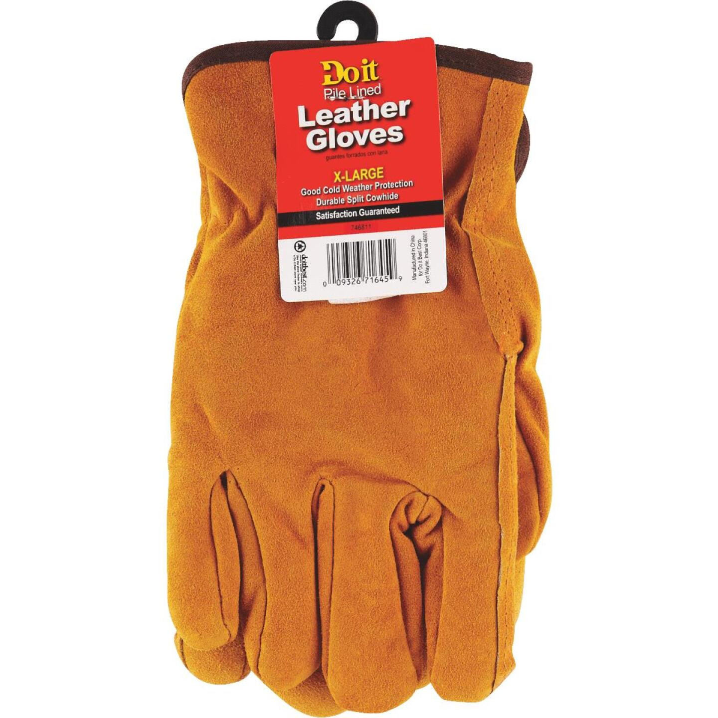 Do it Men's XL Lined Leather Winter Work Glove Image 3