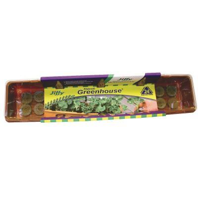 Jiffy 24-Cell Windowsill Greenhouse Seed Starter Kit