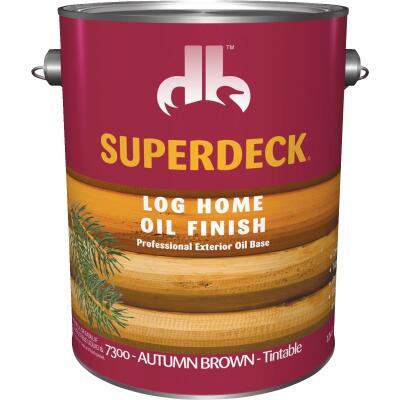 Duckback SUPERDECK Translucent Log Home Oil Finish, Autumn Brown, 1 Gal.