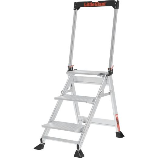 Little Giant Jumbo Step 42 In. Aluminum Step Ladder with 375 Lb. Load Capacity Type 1AA Ladder Rating