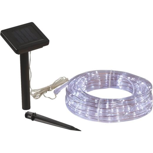 Outdoor Expressions 28 Ft. 100-Light LED Cool White Solar Rope Light