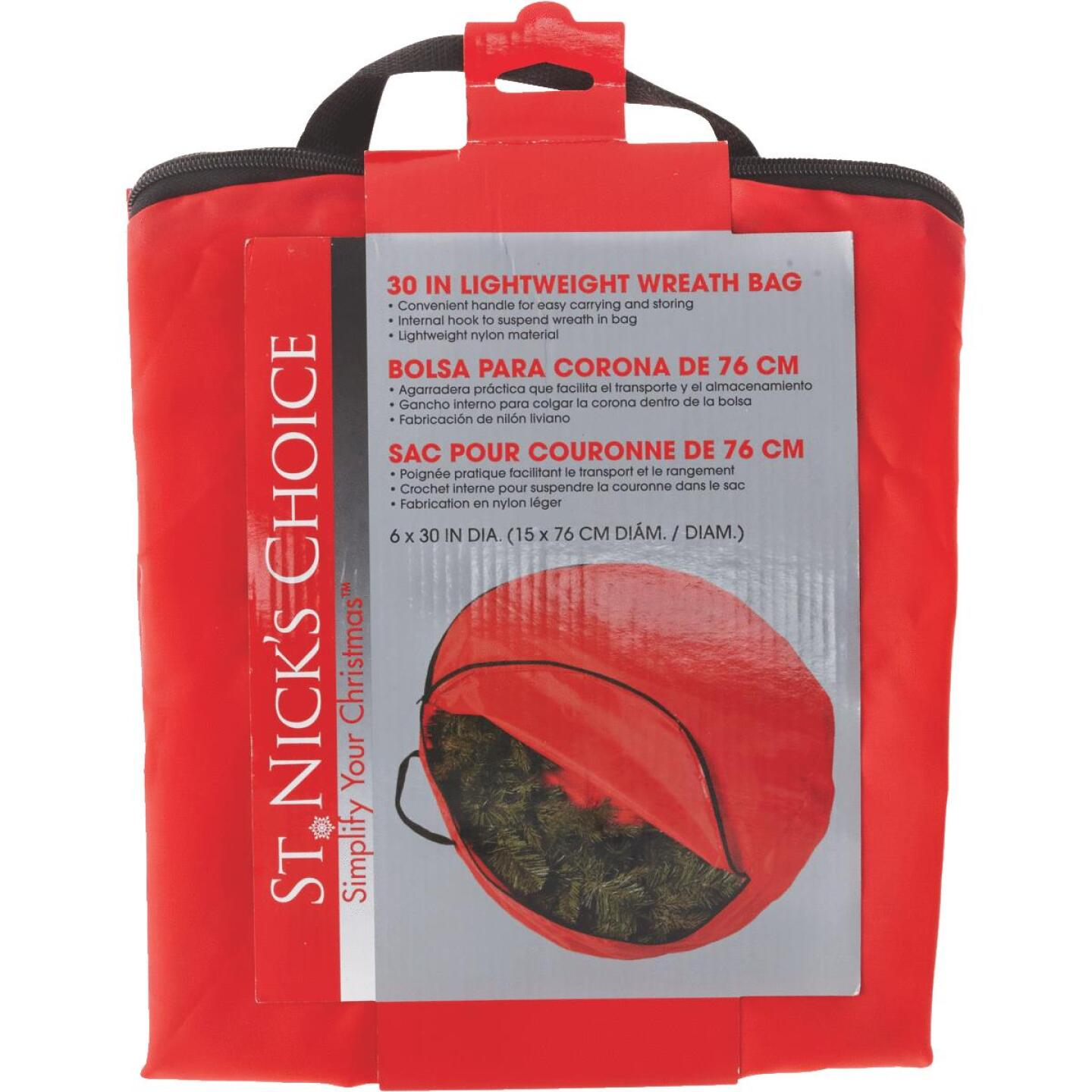 St Nick's Choice 6 In. D x 30 In. Dia Nylon Wreath Storage Bag Image 2