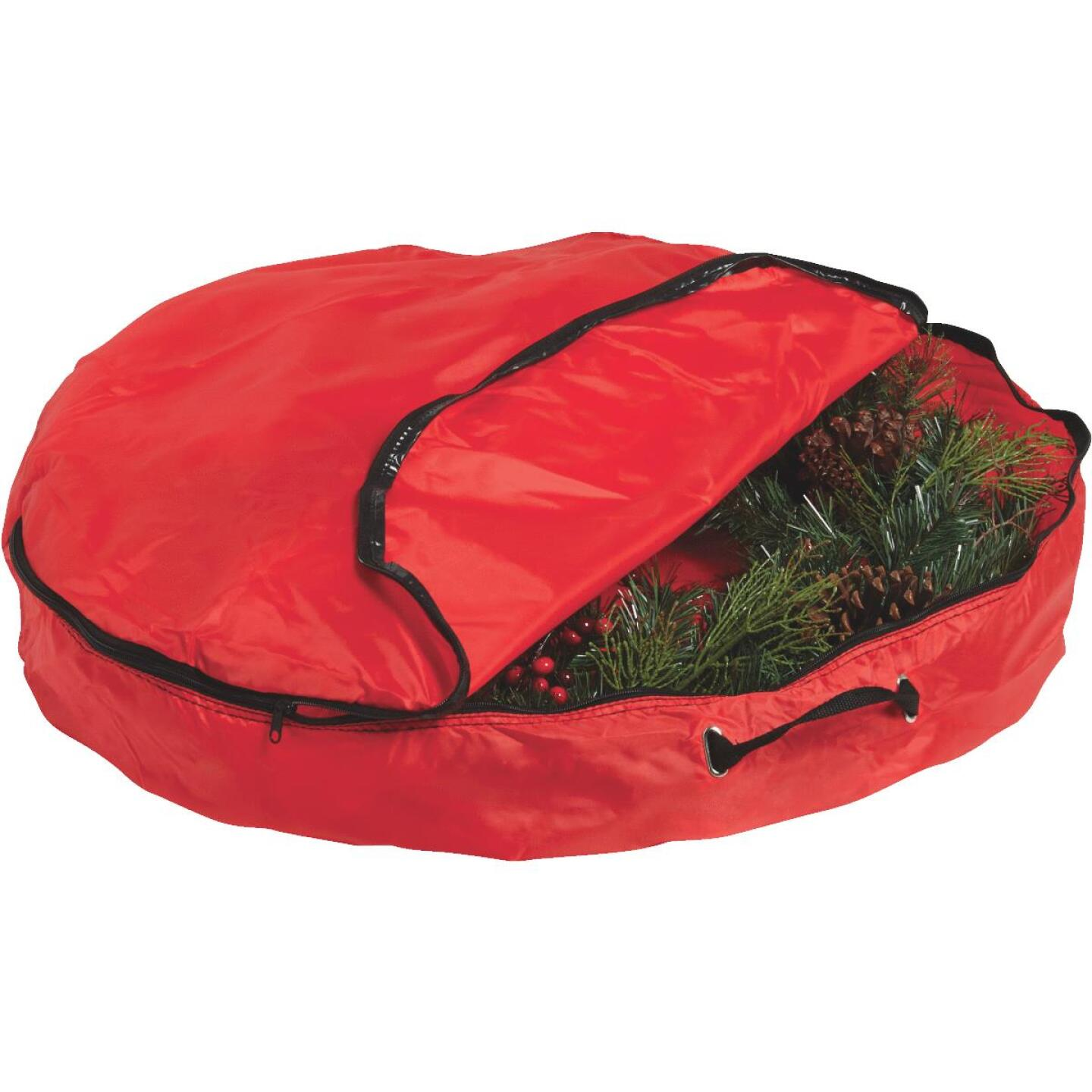 St Nick's Choice 6 In. D x 30 In. Dia Nylon Wreath Storage Bag Image 3